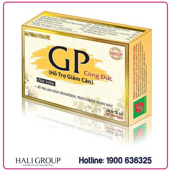 Viên Uống Giảm Cân GP Công Đức – Hỗ Trợ Giảm Béo, Giảm Cholesterol