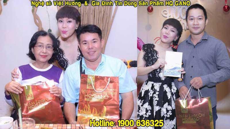 sản phẩm của HQ GANO đã được rất nhiều nghệ sỹ Việt tin dùng