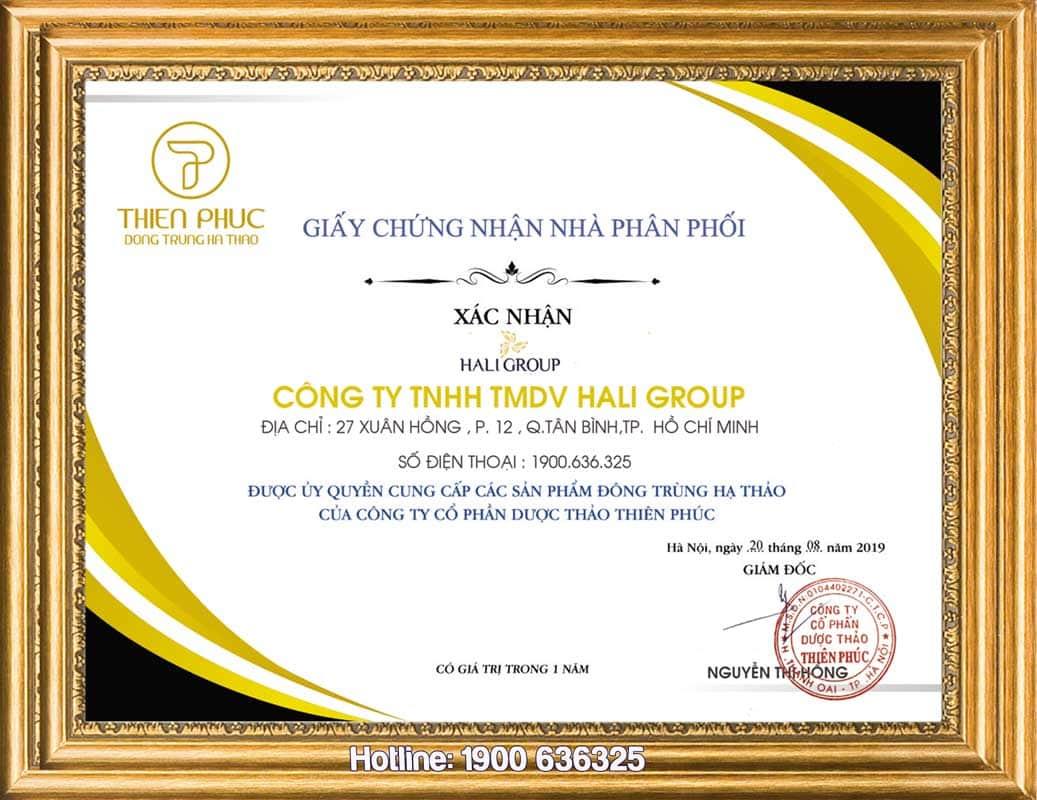 5. HALI GROUP - ĐẠI LÝ ĐÔNG TRÙNG HẠ THẢO THIÊN PHÚC UY TÍN NHẤT