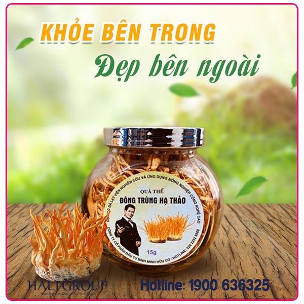Đông Trùng Hạ Thảo Bình Minh Organic – Sinh khối khô 15g