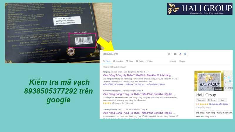 4. Kiểm tra chính hãng mã vạch trên Google