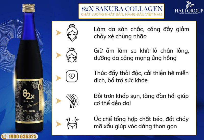Công dụng của 82x sakura collagen