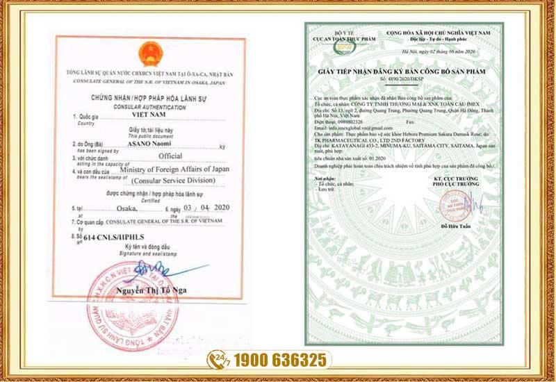 Được Bộ Y Tế Việt Nam và Nhật Bản chấp nhận sản phẩm lưu hành