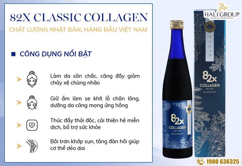 công đụng vượt trội của collagen 82x classic nhật bản