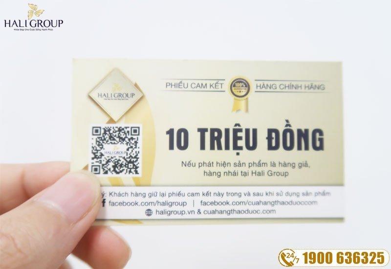 Phiếu mua hàng chính hãng 10 triệu đồng ở Hali Group