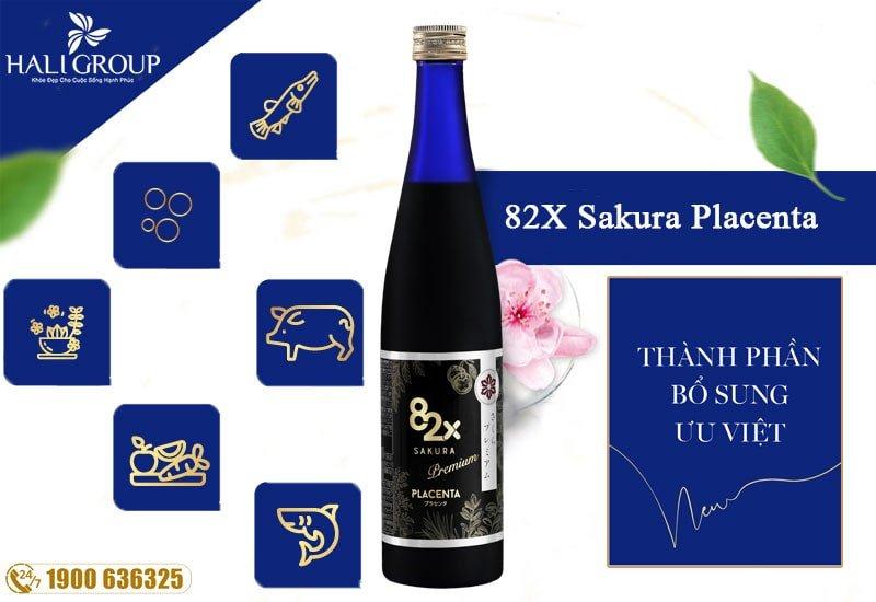 thành phần có trong sakura placenta nhật bản chính hãng