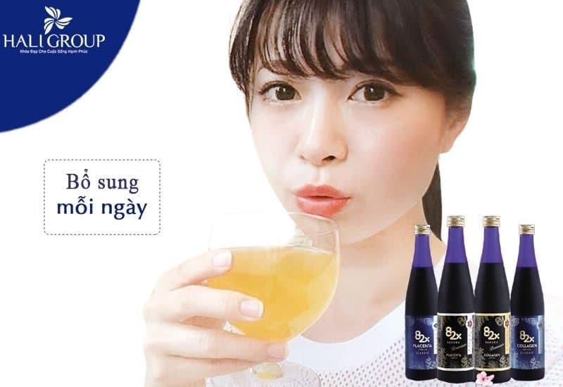 hướng dẫn sử dụng combo collagen 82x sakura mang lại hiệu quả tối đa nhất